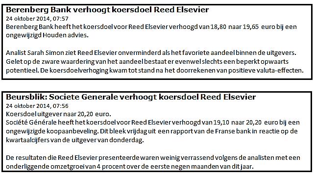 Winst met beleggen in Reed Elsevier