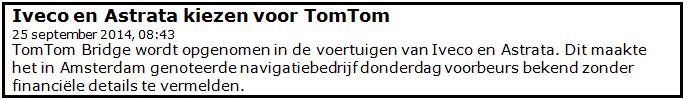 Beleggen met 300 euro in TomTom 3