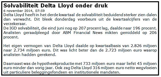 Starten met beleggen in Delta Lloyd