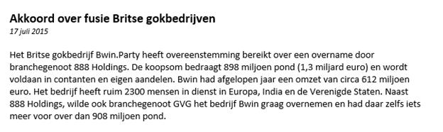 Voorbeeld aandelen kopen Bwin