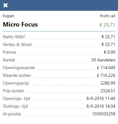 Micro Focus resultaat